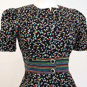 Vintage Rainbow Sprinkles Dress with Pockets!!